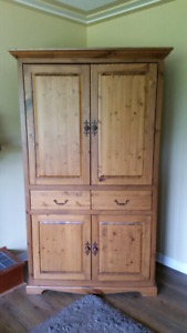 Solid Wood TV Armoire