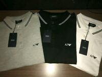 ARMANI JEANS POLO. T-SHIRT .- ✓3 COLOURS ✓SALE RRP-£130! 75% OFF