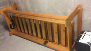 High quality futon frame wood