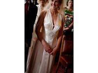 Beautiful Jenny Packham 'Imari' wedding dress, champagne, size 8