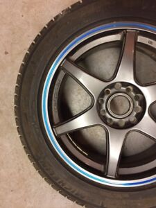 Selling winter tires, rims and stand