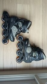 Grey/Black Softec Inline Skates - size '6' Fits UK size 4& 5 AND FREE fall protection