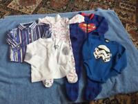 5 ITEMS OF BABY BOYS CLOTHES. AGE 6-9 MONTHS. STR WARS, TIMBERLAND, NEXT. AGE 6-9 MONTS,