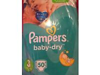 Pampers nappies size 3