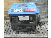 Blackspur GE100 2 stroke petrol generator all working cheap £50