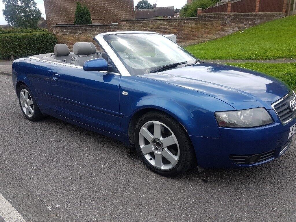 2003 audi a4 convertible 1 8t blue manual in nottingham nottinghamshire gumtree. Black Bedroom Furniture Sets. Home Design Ideas
