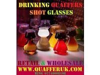 FOUR, 4 QUAFFER SHOT PLASTIC GLASS LIKE JAGERBOMB JAGER SLAMMER BOMB PARTY