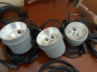 Studio Lighting Equipment 3X Heads and6X leads