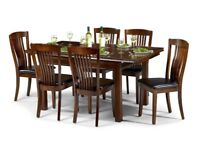 Dark wood Dining table and chairs for sale
