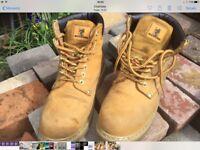 MaxSteel Unisex Steel Toe Cap Boots Size 6