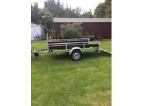 NEW - NEVER USED 8ft x 4ft MULTI PURPOSE TRAILER - LOADING TAILBOARD - PLANT TRAILER