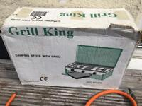 GRILL KING CAMPING STOVE AND GRILL