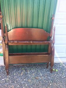 Antique single headboard and footboard