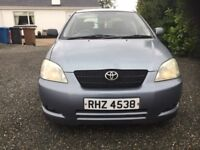 Toyota Corolla d4d diesel mot 21/9/17 cookstown no faults