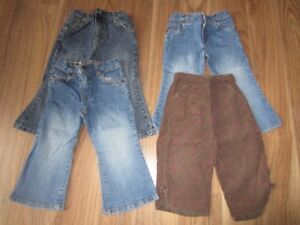BABY GIRLS JEANS - SIZE 24 MONTHS - $8.00 for LOT