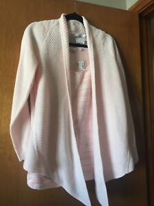 Light pink, nwt sequinned tank and sweater