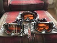 3 x ski goggles.