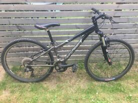 "13"" Wahoo mountain bike in excellent condition. Rock Shox, Shimano, Bontrager."