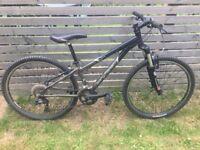 "13"" Wahoo mountain bike in excellent condition. Rock Shox, Shimano, Bontrager."