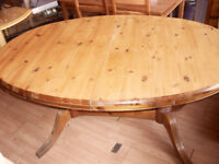 pine extendable dinning table
