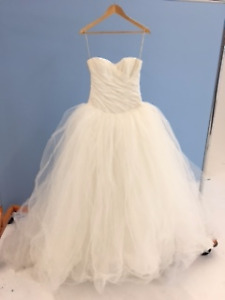 White by Vera Wang (VW351007) full ball gown tulle wedding dress