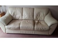 Cream Leather Sofa Free to Collector