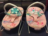 Baby bouncer, music and vibration £15 each