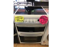 CANNON BRAND NEW 60CM CEROMIC TOP ELECTRIC COOKER IN WHITE
