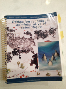 Livre: Rédaction technique, administrative et scientifique