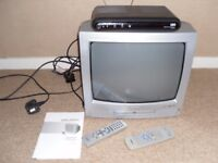 BUSH Portable TV/ DVD combi with freeview topbox