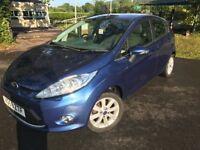 Ford Fiesta 1.4 tdci zetec 5dr in ocean blue metalic