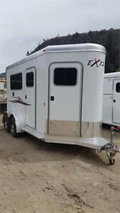 "2017 Exiss 2 Horse Straight Load Trailer 7' 8"" Tall inside"