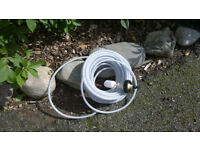 Tourer caravan mains water supply hose and tank valve