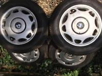 """Bmw wheels and tyres 15"""" 5x120"""