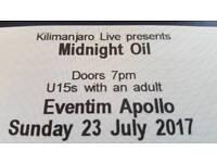 Midnight Oil Ticket x 2 (Sunday 23rd July 2017)