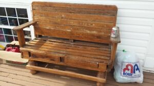 upcycled bench