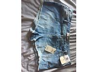 Size 18 denim mini shorts from primark