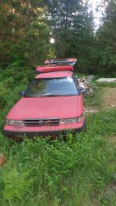 1992 Toyota Corolla 4x4 wagon parts car