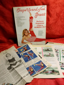 Vintage  book -Shape up and feel Good-  newspapers-lots of pics