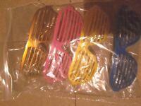 4 Pairs of Rave Glasses & 22 Glow Sticks - Stockport