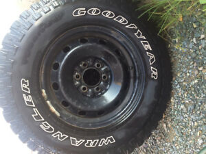 "For Sale - 4 used 17"" Wrangler Goodyear Tires"