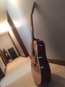 Burswood Jw-41f Acoustic Guitar With Assesories