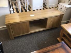 Large solid oak TV Cabinet * free furniture delivery*