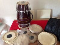 Dholki/Dholak all extras including lots of Skins and Case
