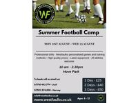 Professional Football camp