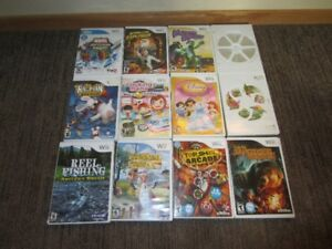 Wii games and accessories.