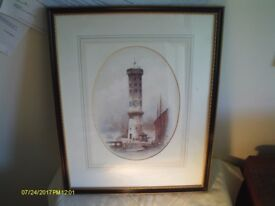 "LARGE PRINT OF ""VICTORIA TOWER, LIVERPOOL"" CHROMO-LITHOGRAPH BY W.HERDMAN (1856)"