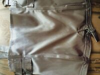 Satin strapless top