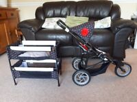 Mamas and papas dolls double buggy and bunk bed
