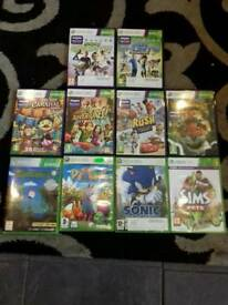 Xbox 360 kinect and 10 games